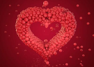 Herz aus Kugeln